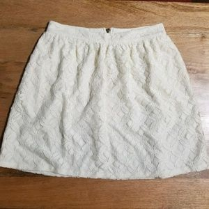 Pins and Needles Off White Lace Overlay Skirt 2 UO